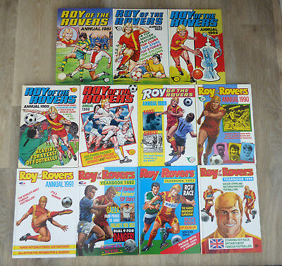 11  x  Roy of the Rovers Annuals 1980/90s    VINTAGE  FOOTBALL ~ EXCELLENT COND