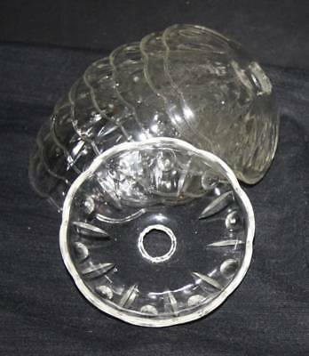 A VINTAGE FRENCH GLASS CHANDELIER  CUP CEILING LIGHT BOBECHE (dc10)