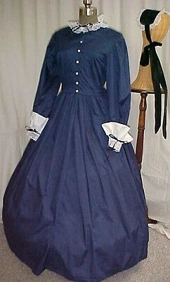 CIVIL WAR, VICTORIAN, DICKENS  4 pc .DRESS SET COSTUME, 4 COLORS, PERM-PRESS