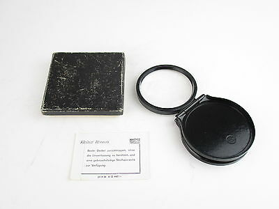Mautner Dresden Stiellupe Lupe magnifying glass in Box OVP