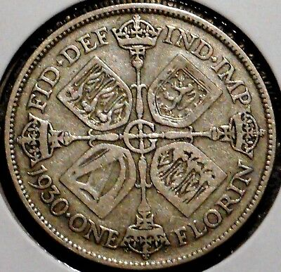 British Florin - 1930 - King George V - $1 Unlimited Shipping