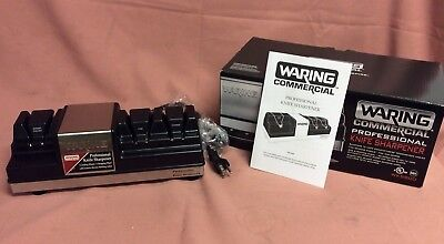 Waring WKS800 Electric Knife Sharpener w/ 3-Wheels & Magnetized Drawer