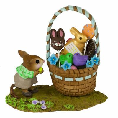 Wee Forest Folk M-523b  His Easter Goodie Basket