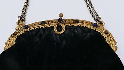 antike Theater Handtasche antique handbag EMPIRE Sphinx Biedermeier Victorian
