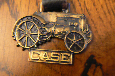 Case Tractor Metal Fob Leather Strap FREE US SHIP
