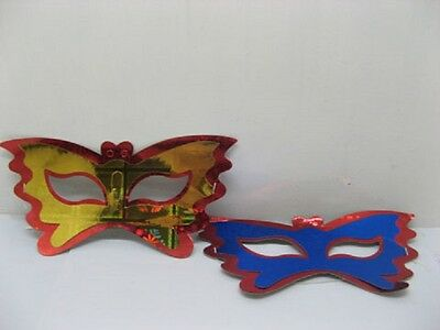 60 Beautiful Colourful Butterfly Dress up Paper Masks