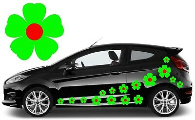 32 Green & Red Flower Car Decals,stickers,car Graphics,daisy Stickers