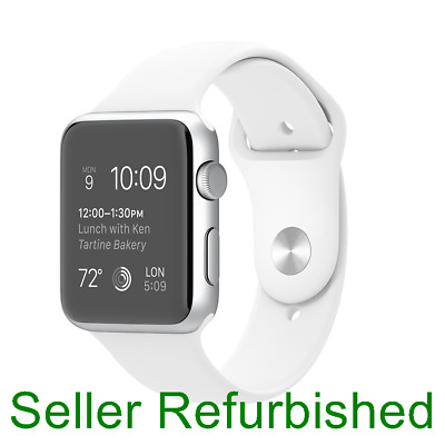 Apple Watch Sport 42mm Silver Aluminum Case - White Sport Band