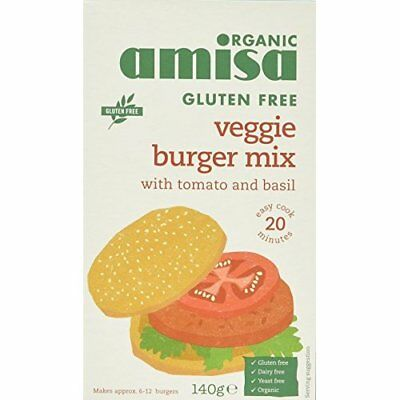 Amisa Burger Mix Tomato and Herb Organic Gluten Free 140 g (Pack of 6)