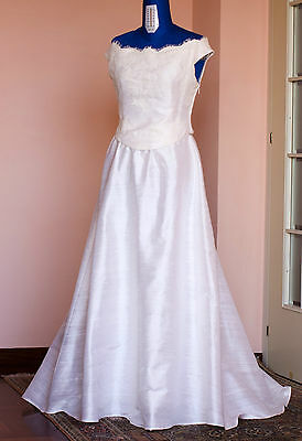 Abito da sposa in pura seta, sartoria italiana vestito wedding dress pure silk