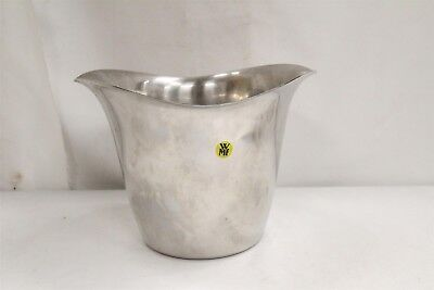 Mid Century Modern WMF Double Flared Stylized Stainless Ice Bucket Eames Era