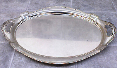 "GORHAM Sterling Silver Large Oval Serving Tray 24"" #2816 APPROX 117.6 Ounces"