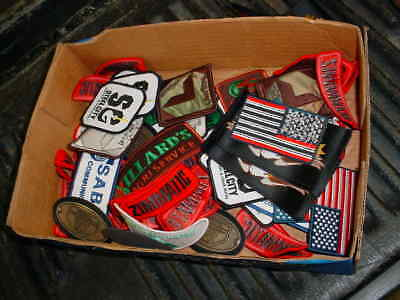 OVER 125 new old stock HAT/CAP,COAT,SHIRT patches