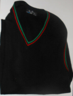 """Boys Cardinal Griffin Black Sleevless Jumper in Size Large 42"""" from 2006."""