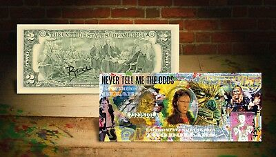 SOLO - STAR WARS MOVIE Han Solo Chewbacca Signed by Rency $2 Bill *Odds Quote*