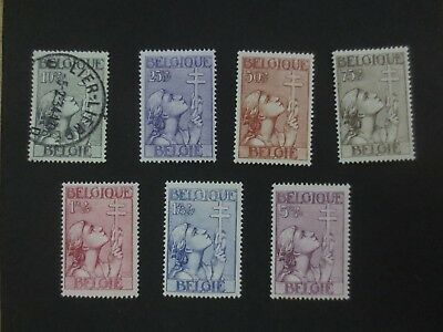Belgium 1933 Pro anti TBC set Used/MH Mint Hinged