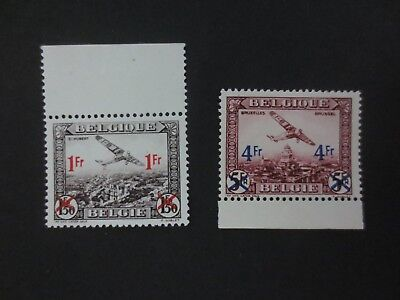 Belgium 1935 Air Mail Surcharged set MNH** Mint Never Hinged