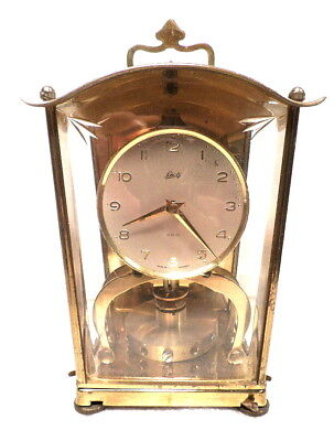 Schatz Anniversary Clock With Round Pendulum, Square Case & Etched Front Glass