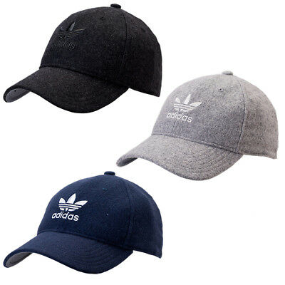 Adidas Men's Originals Relaxed Plus Strapback Hat / Cap NEW Black Grey or Navy