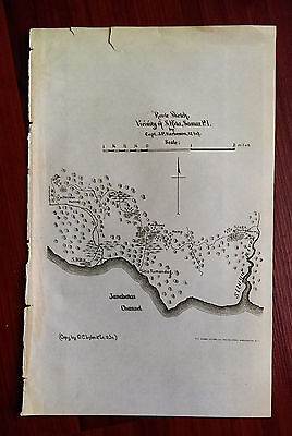1901 Route Sketch Map Vicinity St. Rita Samar Philippines Janabatas Channel