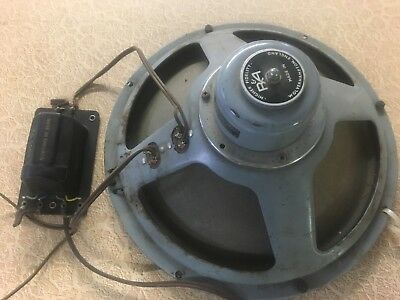 R&A 12 in. Coaxial Speaker Alnico made in England & Goodmans Crossover