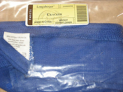 Longaberger Cracker Basket Fabric liner Cornflower Blue mint in bag never used!