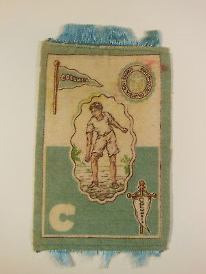 Columbia University   Log Rolling     1910 Murad Tobacco Felt/banket 3 By 5 Inch