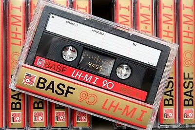 Basf Lh Maxima I 90 Normal Position Type I Blank Audio Cassette - Germany 1985