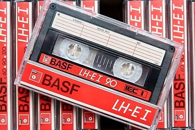 Basf Lh Extra I 90 Normal Position Type I Blank Audio Cassette - 1985