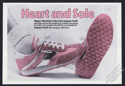 1981 Keds Miss Piggy Muppet Stuff pink sneakers photo vintage print ad