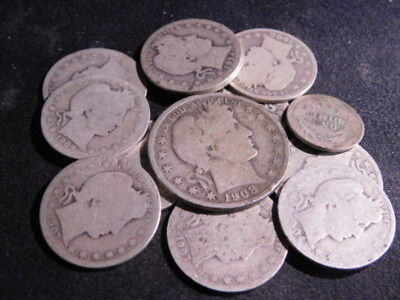 90% Silver United States Barber Half Dollar Quarters & Dime
