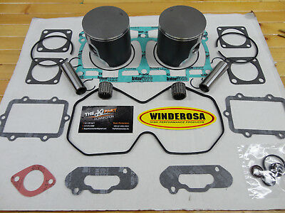 Ski Doo 800R Piston Top End Kit With Bearings And Winderosa Gaskets Fits 2008-11