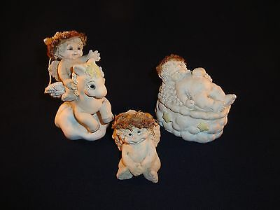 Lot of 3 Dreamsicles - Trinket Box, Pegasus, Sitting Cherub
