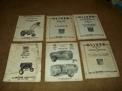 Huge lot of 42 Oliver Tractor Farm Equipment Owners Parts Manuals Catalogs