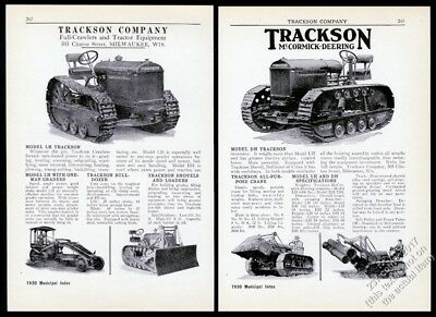 1930 Trackson LH DH tractor crawler 6 photo McCormick-Deering trade print ad