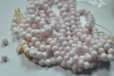 600 Cherry Brand Vintage 6mm Soft Pink Glass Bead, Old Miriam Haskell Stock K025
