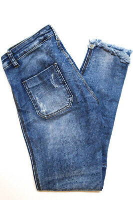 One X One Teaspoon Blue Light Wash Low Rise Skinny Jeans Size 25