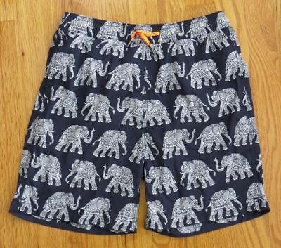 JCrew Crewcuts Boys' Swim Trunk in Elephant Print Shorts G1427 $55 Navy Ivory 3