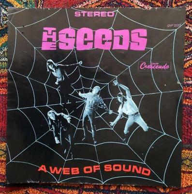The SEEDS~original 1966 'WEB OF SOUND' cover slick (from GNP archives)~PSYCH