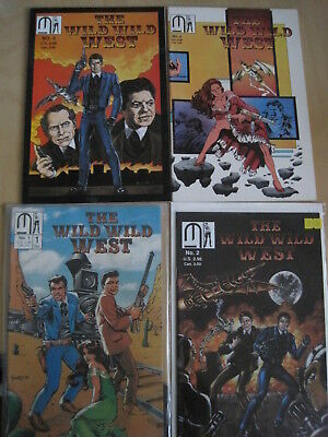 The WILD, WILD WEST :COMPLETE 4 ISSUE SERIES. BASIS of the MOVIE.MILLENNIUM.1989