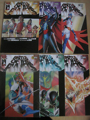 BATTLE of the PLANETS : COMPLETE RUN of ISSUES 1,2,3,4,5,6. TOP COW. 2002