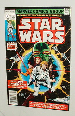 1977 Kenner Star Wars Comic Book Issue #1 Excellent 7.0 Condition