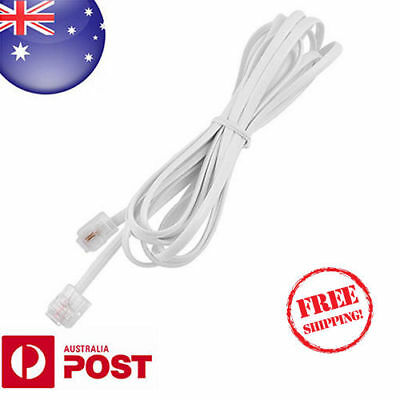 Telephone Extension Cable Cord - Telephone Line Cable Wire 5M - 6P2C RJ11 Z658F