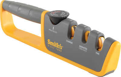 Smith's Sharpeners 50264 Adjustable Manual Knife Sharpener Gray/Yellow