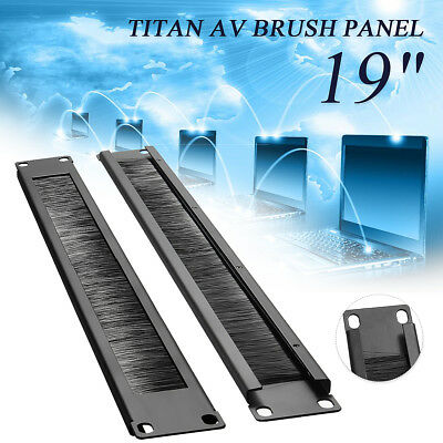 Cable Brush Panel Rack 19'' 1U Server Cabinet Cable Management Tidy Bar Slot AU