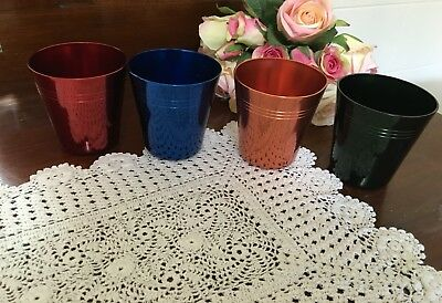 HICKOK Set of 4 Anodised Cups -UNUSED AS NEW