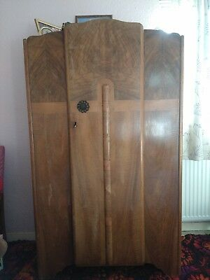 Antique Cica 1920's Art Deco Gentlemans Wardrobe