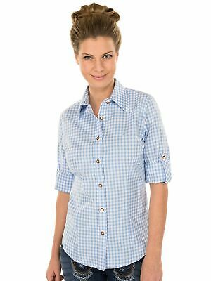 Orbis Traditional Costume Blouse Checkered Long Sleeve with Embroidery