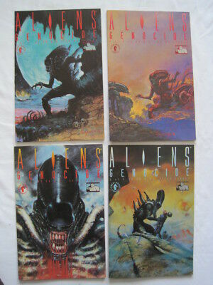 "ALIENS : ""GENOCIDE"" : COMPLETE 4 ISSUE MINI SERIES by John ARCUDI. Dark Hor.1991"