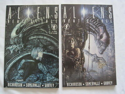 """ALIENS : """"NEWT'S TALE"""" : COMPLETE 2 ISSUE DELUX FORMAT SERIES. Dark Horse.1992"""